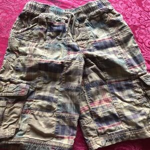 LL Bean Kids Size 10 Patchwork Cargo Shorts